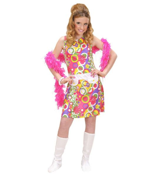 Girls 70s Girl Costume Disco Pop Fancy Dress